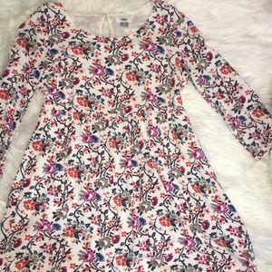Old Navy floral 3/4 length sleeve dress